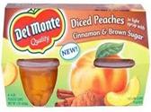 Del Monte - Diced Peaches in Brown Sugar -4ct