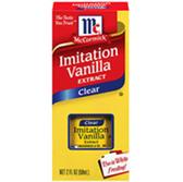 McCormick Pure Clear Imitation Vanilla Extract -1 oz