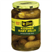 Mt Olive Kosher Baby Pickle Dills -16 oz