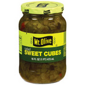 Mt Olive Sweet Salad Dill Cubes -16 oz