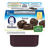 Gerber All-Natural - Prunes -2ct
