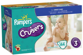 Pampers Cruisers Diapers with Dry Max Size 3