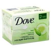 Dove Cool Moisture Soap Bar - 2-4.25 Oz