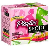 Playtex Regular Sport Multi Pack Unscented Tampons - 36 Count