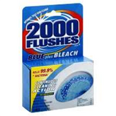 2000 Flushes Blue Plus Bleach Antibac -3.5 oz