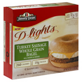Jimmy Dean D-Lights Bagel Sandwich Turkey Sausage-4 ct