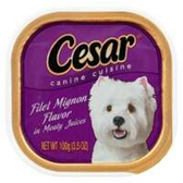 Cesar Select Dinners W/ Filet Mignon Dog Food - 3.5 Oz