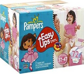 Pamper's Girls Easy Ups 3T - 4T -72ct
