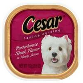 Cesar Porterhouse Steak Flavor In Meaty Canine Cuisine - 3.5 Oz