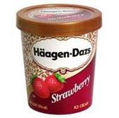 Haagen Dazs Strawberry Ice Cream - 28 oz