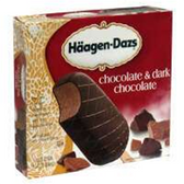 Haagen Dazs Dark Chocolate Ice Cream Bars - 3 pk
