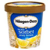 Haagen Dazs Fat Free Zesty Lemon Sorbet