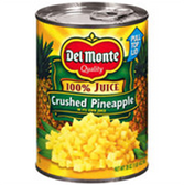 Delmonte Crushed Pineapple - 15.25 oz