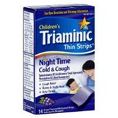Triaminic Grape Childrens Night Time Cough Cold Thin Strips - 14