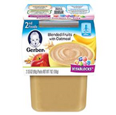 Gerber All-Natural - Blended Fruits with Oatmeal -2ct