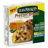 Lean Pockets Grilled Chickem Bread Jalapeno Cheddar Pretzel -9oz