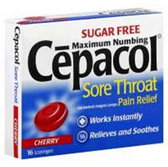 Cepacol Sugar Free Cherry Throat Lozenges - 16 Count