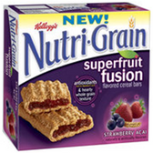 Kellogg's Nutri-Grain Super Fruit Fusion Bar -6 pk