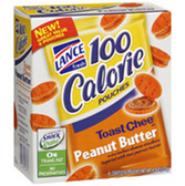 Lance 100 Calorie Toast Chee Peanut Butter Crackers-6 ct