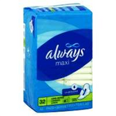 Always Maxi Pads With Wings Jumbo - 32 Count