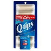 Q Tips Cotton Swabs - 375 Count