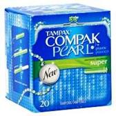 Tampax Super Compak Pearl - 20 Count