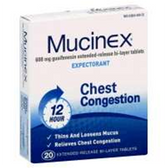 Mucinex 600 Milligram Tablets - 20 Count