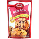 Betty Crocker Triple Berry Muffin Mix -15.3 oz