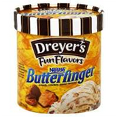 Dreyers / Edys Grand  Butterfinger Ice Cream -1.5 qt