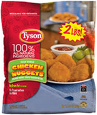 Tyson Frozen Chicken Nuggets -2.5 LB 1