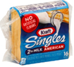 Kraft Singles Reduced Fat 2% Milk American Cheese Slices -16ct
