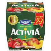 Dannion Activia Strawberry Banana & Peach Yogurt - 8 ct