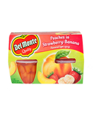 Del Monte - Peaches in Strawberry Banana Syrup -4ct