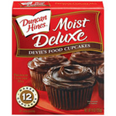 Duncan Hines Moist Deluxe Devils Food Cupcake Mix-18.25 oz