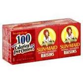 Sun-Maid Seedless Raisins Prepacked - 6 pk
