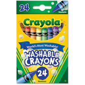 Crayola Washable Crayons - 24 Ct