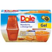 Dole Fruit Bowls in Orange Gel Mandarins - 4 pk