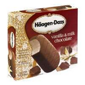 Haagen Dazs Vanilla Milk Chocolate Ice Cream Bars - 3 pk