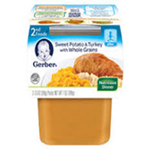 Gerber All-Natural - Sweet Potato & Turkey with Whole Grains -2c