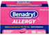 Benadryl Allergy Diphenhydramine HCI 25mg Ultratab Tablets,100ct