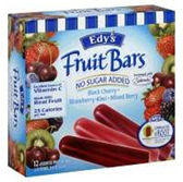Dreyers / Edys Whole Fruit Bar Berry No Sugar Added - 12 pk