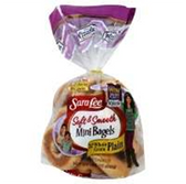 Sara Lee Mini Bagels Plain -12 ct