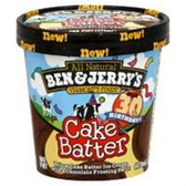 Ben and Jerrys Cake Batter Ice Cream -16 oz
