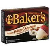 Baker's Baking Squares White Chocolate - 8 oz