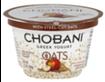 Chobani Oats Apple Cinnamon Greek Yogurt, 5.3 OZ