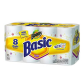 Bounty Basic Paper Towels - 8 Regular Rolls