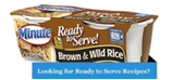 Minute Rice - Brown & Wild Rice -4.4oz