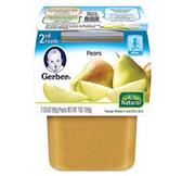 Gerber All-Natural - Pears -3.5oz