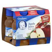 Gerber Apple Juice - 4 - 4 fl. Oz