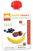 Happy Baby Organic Baby 2nd Food - Banana, Beets & Blueberry